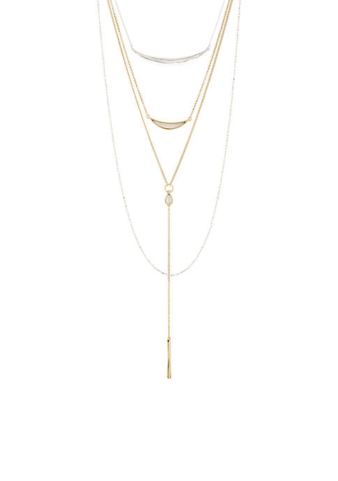 Lucky Brand Cat Eye Layer Necklace