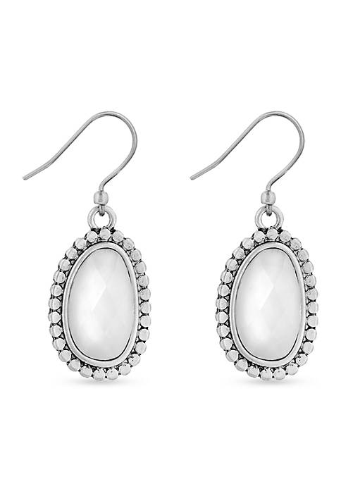 Lucky Brand Silver-Tone Mother Of Pearl Organic Drop