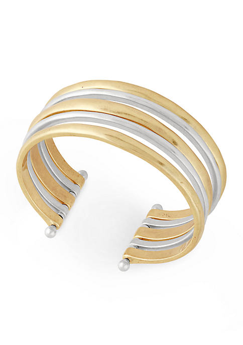 Lucky Brand Two-Tone Cuff Bracelet