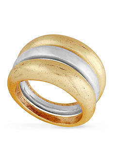 Lucky Brand Two-Tone Stack Ring