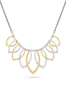 Two-Tone Petal Collar Necklace