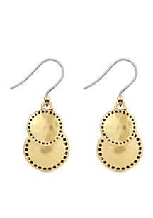 Lucky Brand Gold-Tone Double Drop Earrings