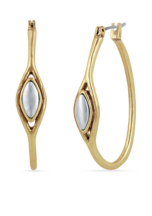Lucky Brand Two-Tone Hoop Earring