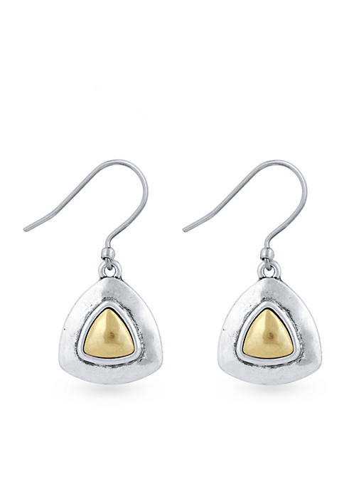 Lucky Brand Two-Tone Drop Earrings