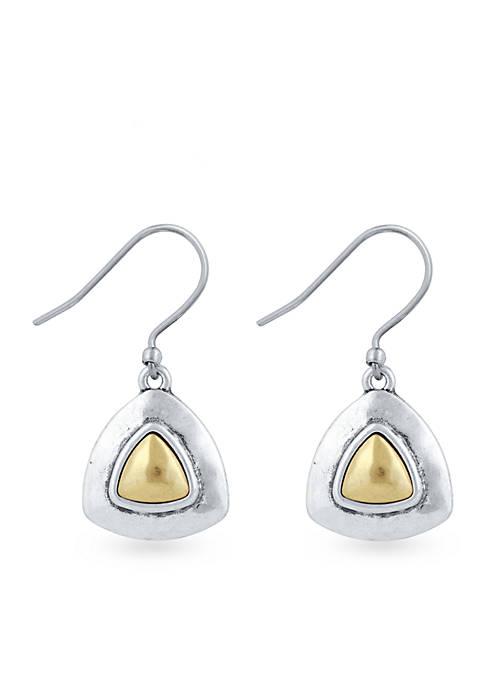 Lucky Brand Two-Tone Drop Earrings