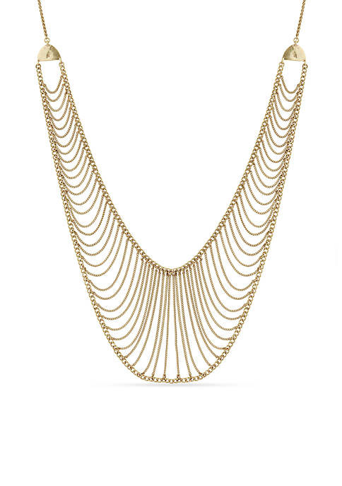 Lucky Brand Gold-Tone Statement Chain Collar Necklace