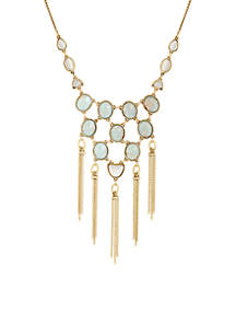 Gold-Tone Jasper Collar Necklace