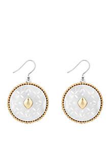 Two-Tone Tribal Drop Earrings