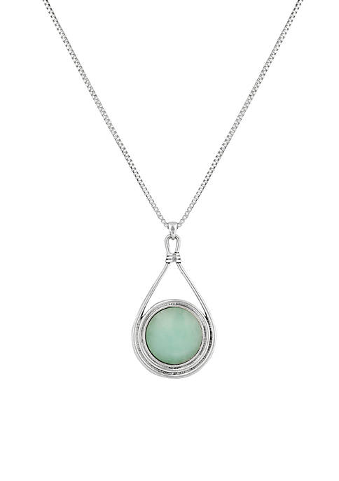 Lucky Brand Reversible Mint Pendant Necklace