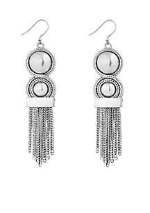 Chain Bead Fringe Earring