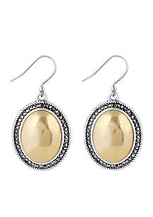 Two-Tone Pave Gem Drop Earring
