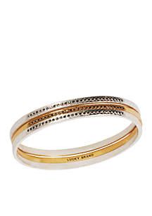 Two-Tone Pave Hinge Bracelet