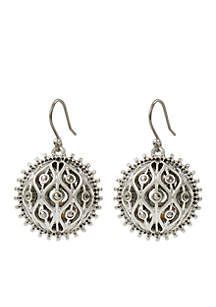 Lucky Brand Openwork Pave Ball Drop Earring