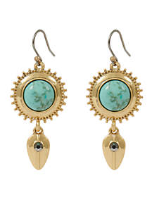 Turquoise Pave Drop Earring