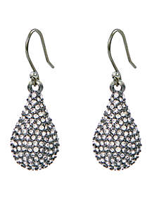 Lucky Brand Oxidized Pave Teardrop Earring