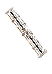 Pave Two-Tone Layer Bracelet