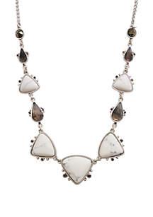 Set Stone Collar Necklace