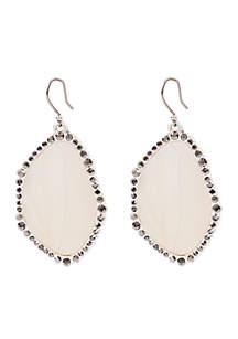Agate Statement Drop Earrings