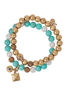 Lucky Brand Turquoise Stretch Bracelets