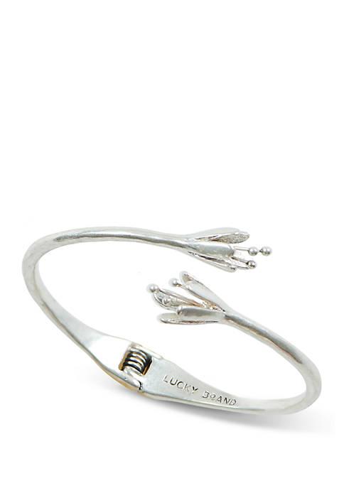 Lucky Brand Silver Tulip Cuff Bracelet
