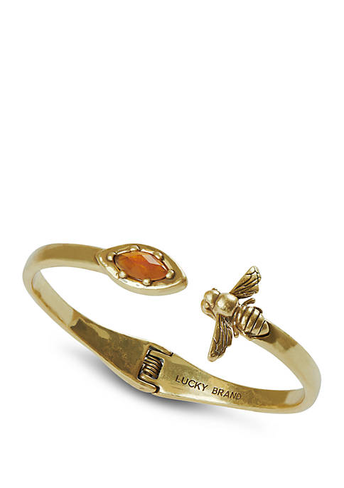 Lucky Brand Bee And Set Stone Hinge Cuff