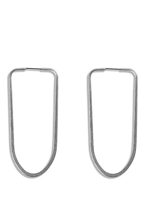 Delicate Oblong Hoop Earrings