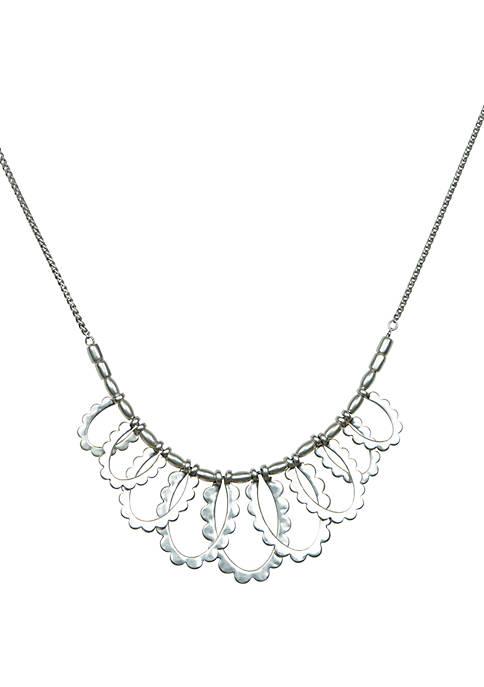 Interlocking Scalloped Edge Collar Necklace
