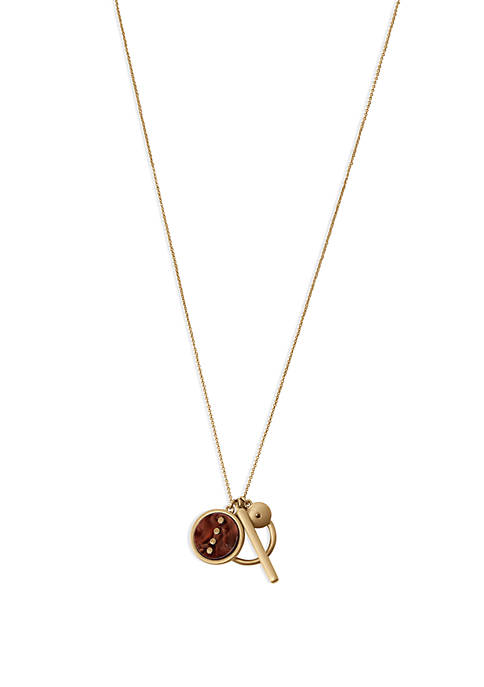 Lucky Brand Acetate Autumn Charm Necklace