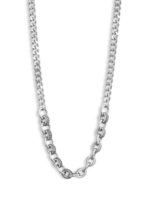 Lucky Brand Pave Chain Link Collar Necklace