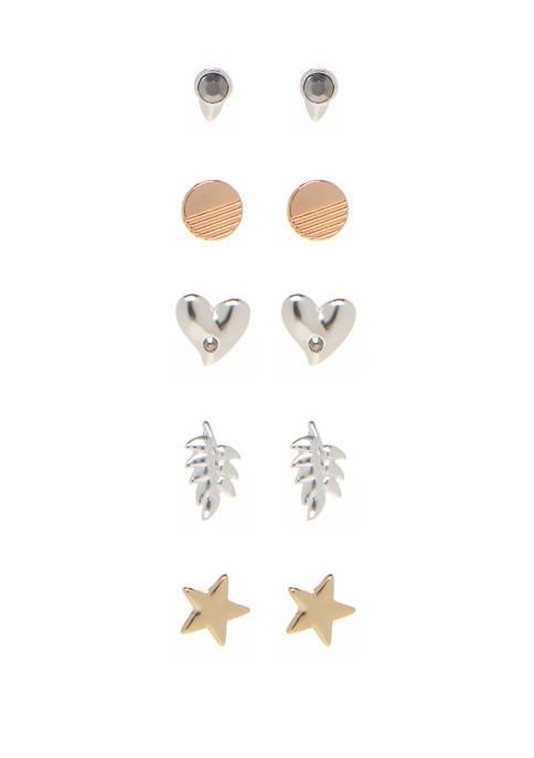 2 Tone Garden Earrings Set