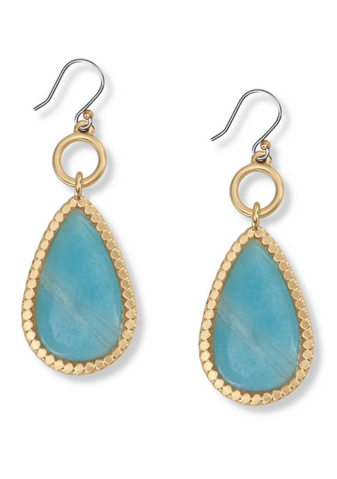 Lucky Brand Amazonite Drop Earrings