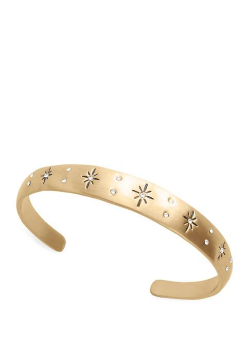Lucky Brand Celestial Pave Cuff Bracelet