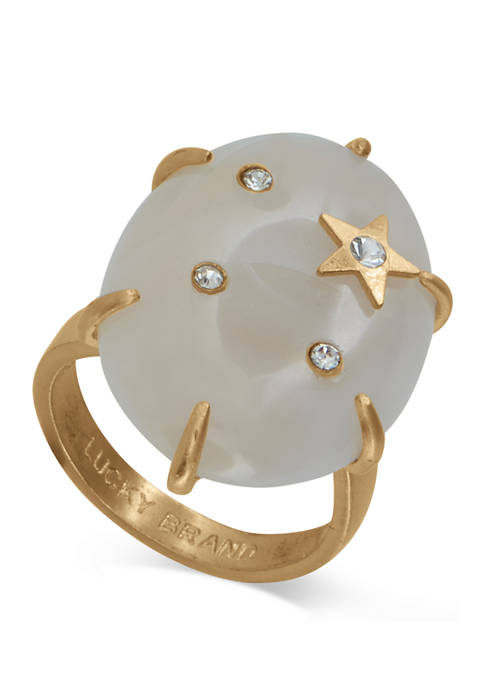 Lucky Brand Star and Pave Overlay Ring