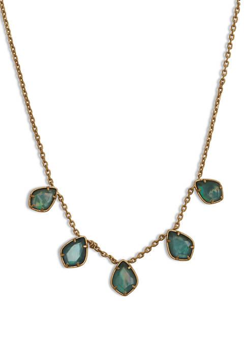 Lucky Brand Emerald Green Collar Necklace
