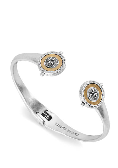 Lucky Brand Reversible Pave and Metal Hinge Cuff
