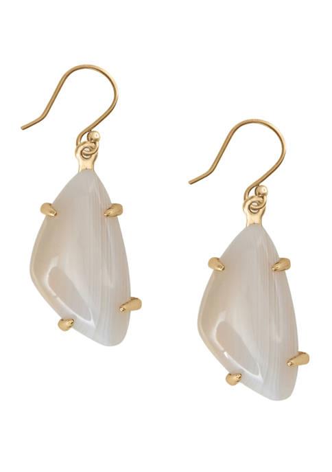 Lucky Brand White Agate Drop Earrings