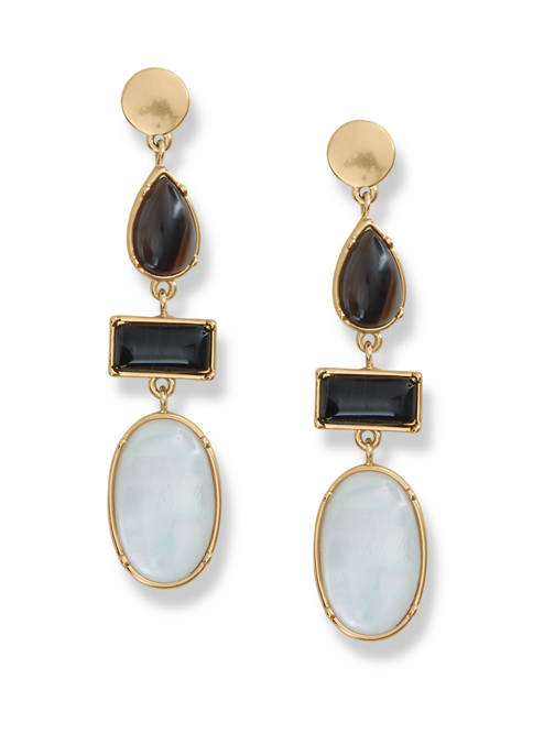Lucky Brand Mother of Pearl and Agate Drop