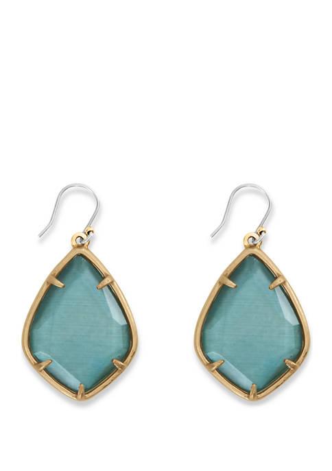 Large Emerald Green Drop Earrings