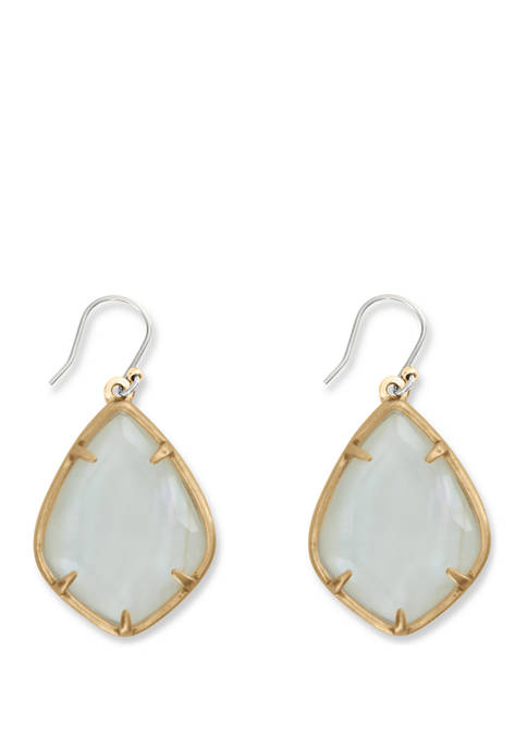 Lucky Brand Large White Mother of Pearl Drop