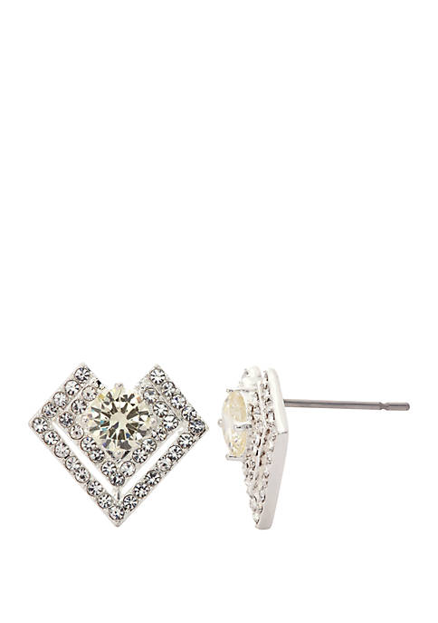 Boxed Crystal Stone Pave Earrings
