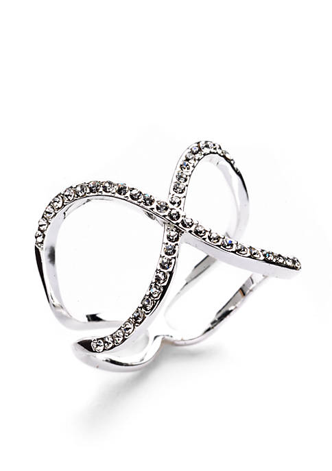 Silver-Tone Infinity Boxed Ring