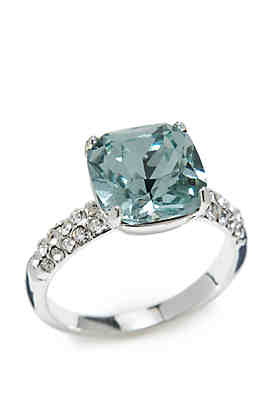 48091c440 New Directions® Silver-Tone Cushion Cut Crystal Ring ...