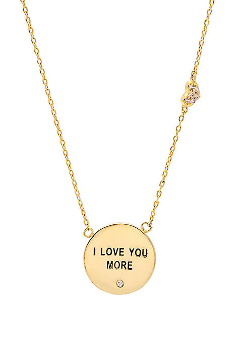 I Love You More Gold-Tone Pendant Necklace