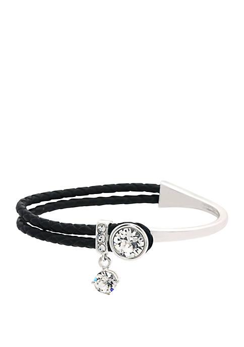 Round Clear Swarovski Crystal Bracelet