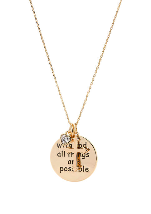 New Directions® God All Things Cubic Zirconia Pendant