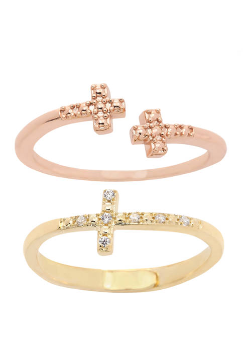New Directions® Boxed Cubic Zirconium Crystal Pave Cross