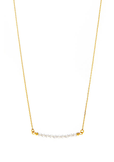 New Directions® Gold Tone Beaded Birthstone Necklace