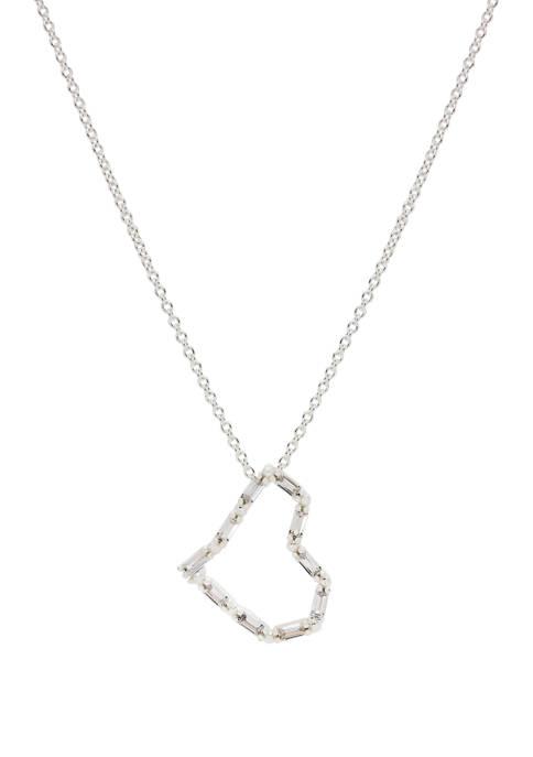 New Directions® Boxed Cubic Zirconium Heart Pendant Necklace