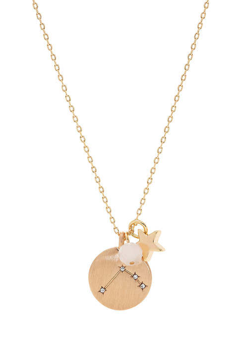 Boxed Aries Pendant Disc Necklace