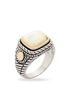 New Directions® Two-Tone Mother of Pearl Boxed Ring